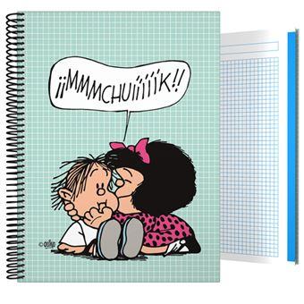 Cuaderno Mafalda A4 Cuadriculado Tapa dura Muak