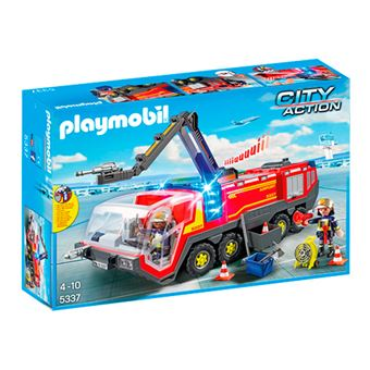 Playmobil City Action Camión bomberos aeropuerto