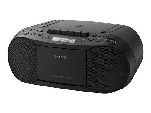 Radiocassette Sony Boombox CD CFD-S70 Negro