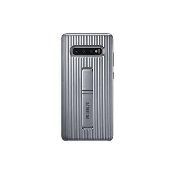 Funda Samsung Protective Standing para Galaxy S10+ Plata