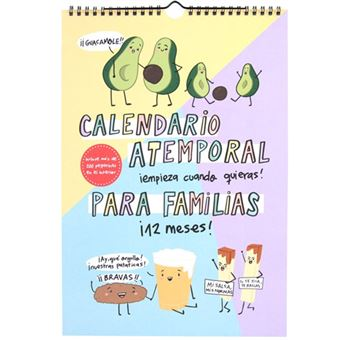 Calendario atemporal Pedrita Parker para familias