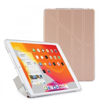 Funda con soporte Pipetto London Origami Oro Rosa para iPad 10,2''