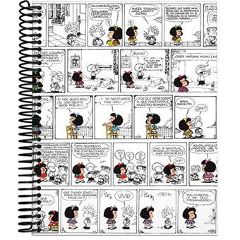 Cuaderno Mafalda A5 Cuadriculado Tapa dura Cómic