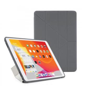 Funda con soporte Pipetto London Origami Gris para iPad 10,2''
