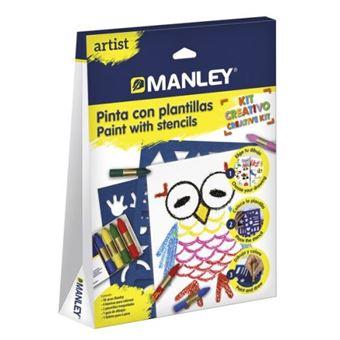 Manley Artist pinta con plantilla