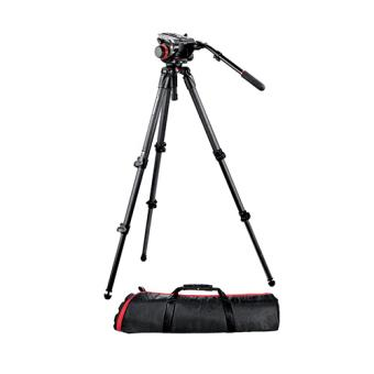 Manfrotto - Kit video con trípode fibra de carbono MPRO 535 + rótula 504HD