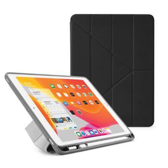 Funda con soporte Pipetto London Origami Pencil Negro para iPad 10,2''
