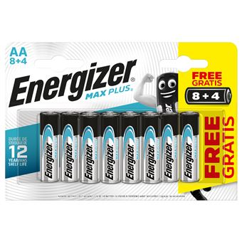 Pilas Energizer Max Plus LR6AA 8+4