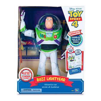 Buzz Lightyear Bizak Toy Story 4 Interactivo con voz en español y reconocimiento de frases 30cm