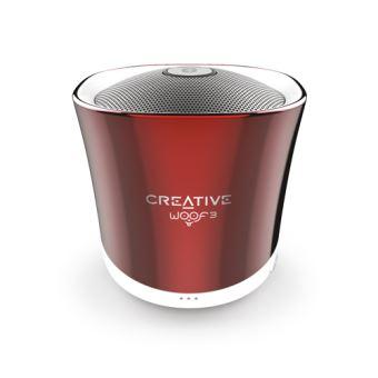 Altavoz Bluetooth Creative Woof 3 Rojo