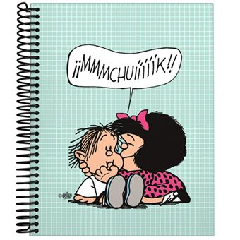 Cuaderno Mafalda A5 Cuadriculado Tapa dura Muak