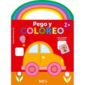 Arco iris - pego y coloreo +2 coche (Tapa blanda)