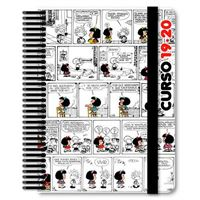 Agenda escolar 2019-2020 A5 dos días página Mafalda comic