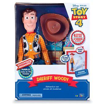 Woody Bizak Toy Story 4 Interactivo con voz en español y reconocimiento de frases 42cm