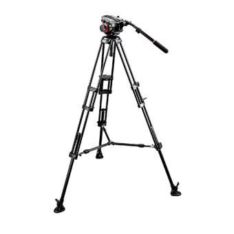 Manfrotto - Kit video con trípode aluminio PRO 546B + rótula 504HD estabilizado media altura