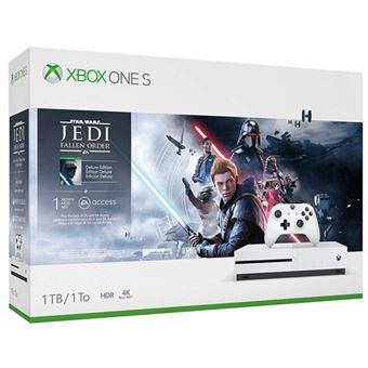 Consola Xbox One S 1TB blanca + Star Wars Jedi : Fallen Order