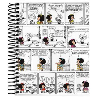 Cuaderno Mafalda A6 Cuadriculado Tapa dura Cómic