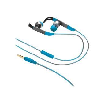 Urban Revolt Fit In-ear Sports - Auriculares de botón con fijación para deportes azules