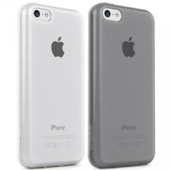 Belkin Funda Grip Sheer Matte para iPhone 5c, paquete de 2 - Grigio pietra/Trasparente