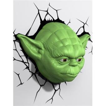 Lámpara decorativa pared 3D Star Wars Yoda