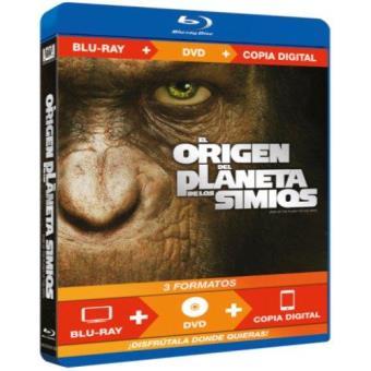 El origen del planeta de los simios - Blu-Ray + DVD + Copia digital