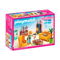 Playmobil Dollhouse Sala de estar con fuego