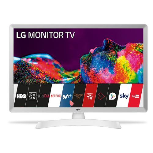 Tv led 24'' lg 24tn510s-wz hd smart tv blanco