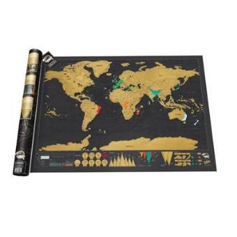 Mapa Mural Del Mundo Scratch Deluxe 5 En Libros Fnac