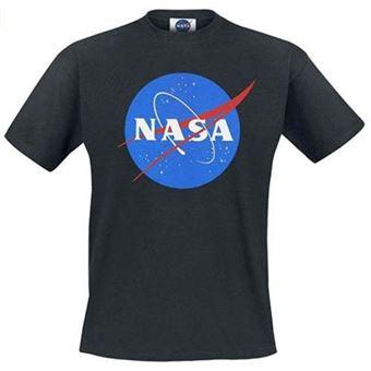 Camiseta NASA Negro Talla S