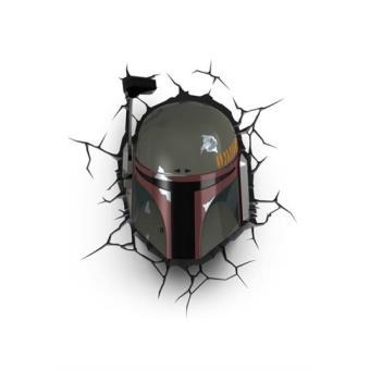 Lámpara decorativa pared 3D Star Wars Boba Fett