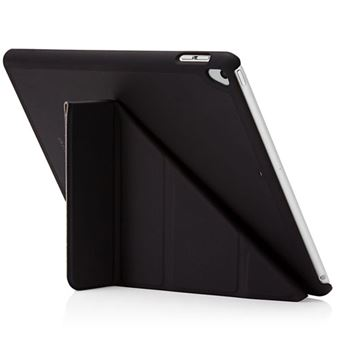 Funda con soporte Pipetto London Origami Negro para iPad 9,7''