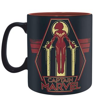 Taza Capitana Marvel Protector of the shies