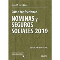 Cómo confeccionar nóminas y seguros sociales 2019