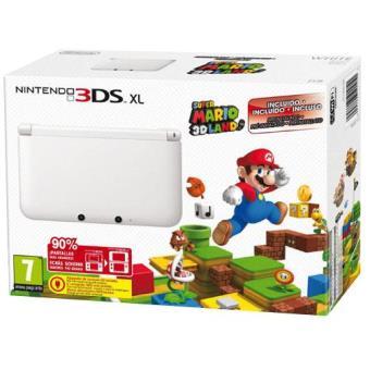 Consola Nintendo 3DS XL Blanca + Super Mario 3D Land