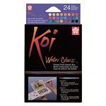 24 pastillas acuarela Sakura Koi multicolor + pincel rellenable