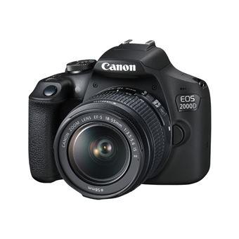 Cámara Réflex Canon EOS 2000D + 18-55 mm IS II Kit