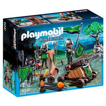 Playmobil Knights Caballeros del lobo con catapulta