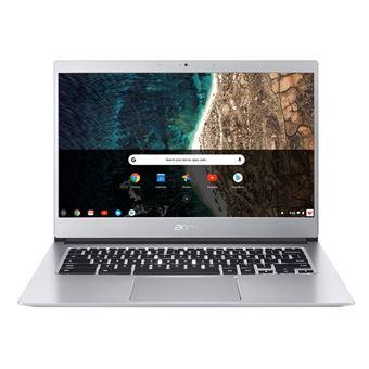 Portátil Acer Chromebook 514 CB514-1HT 14'' + Funda + Ratón Plata