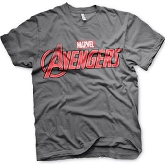 Camiseta Marvel Vengadores - Logo Gris Talla XL
