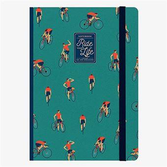 Cuaderno grande Legami rayas tapa dura Bike Lovers verde