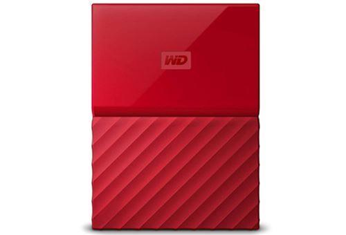 Disco duro portátil WD My Passport Thin 2TB Rojo