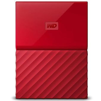 Disco duro portátil WD My Passport Thin 2TB Rojo