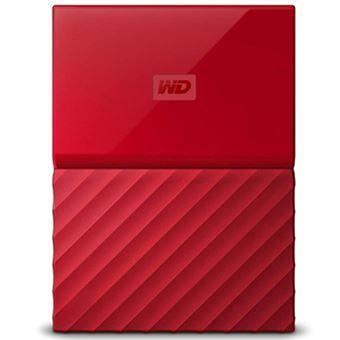 Disco duro portátil WD My Passport USB 3.0 2TB Rojo