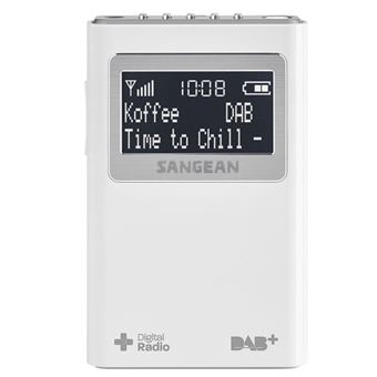 Radio portátil Sangean DPR-39 DAB Blanco
