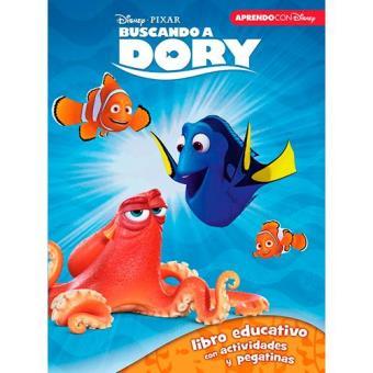 Buscando a Dory. Libro educativo con actividades y pegatinas