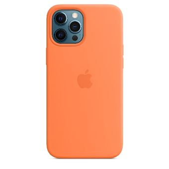 Funda de silicona con MagSafe Apple Naranja kumquat para iPhone 12 Pro Max