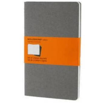 Cuaderno Moleskine de viaje Cahier L Pautado Gris Piedra