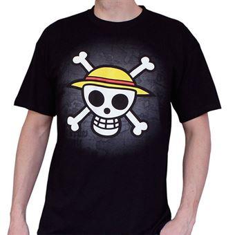Camiseta One Piece Negro Calavera - Talla XL