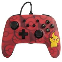 Mando con cable Power A Pikachu Rojo para Nintendo Switch