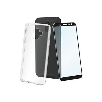 Funda + protector de pantalla Muvit Cristal Soft Transparente para Samsung Galaxy A6